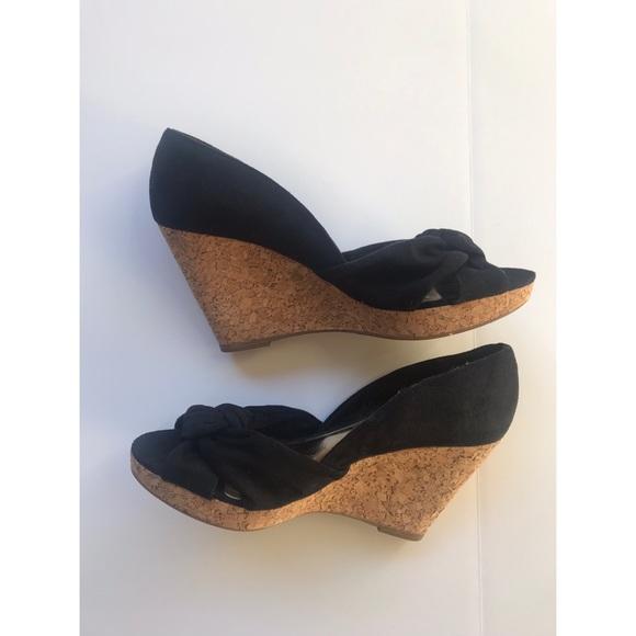 H\u0026M Shoes   Cute Black Wedges   Poshmark
